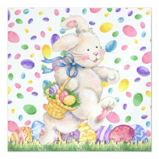 "Easter Invitation (Egg Hunt?) - SRF 5.25"" Square Invitation Card"
