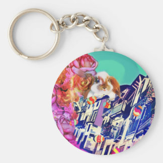 Easter is coming to town. key ring