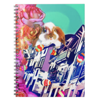 Easter is coming to town. spiral notebook