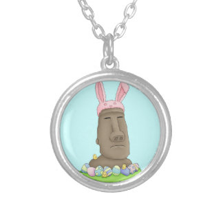 Easter Island Bunny Parody Personalized Necklace