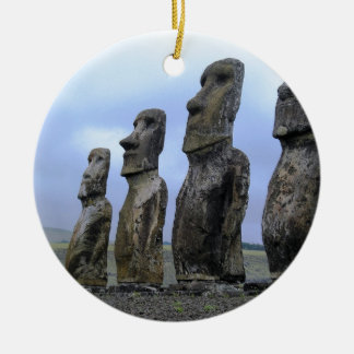 Easter-Island Ceramic Ornament