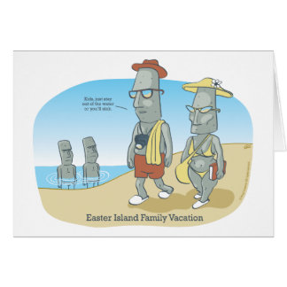 Easter Island Family Vacation Greeting Card