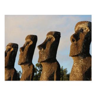 Easter Island Head Statues Postcard