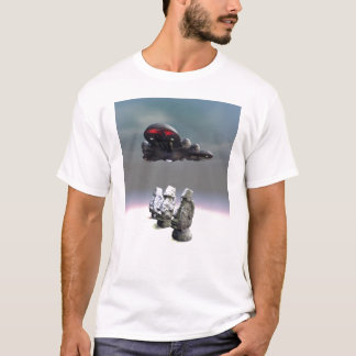 Easter Island Heads and UFO T-Shirt