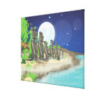 Easter Island Moai Canvas Print
