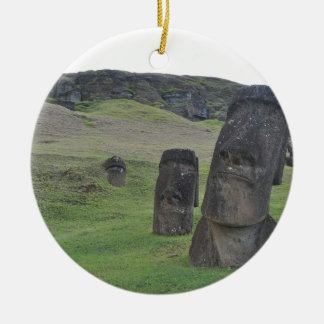 Easter Island Moai Ceramic Ornament