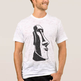 Easter Island Moai Head Statue T-Shirt