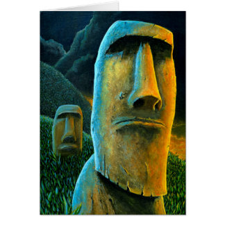 Easter Island Moai Tiki Greeting Card