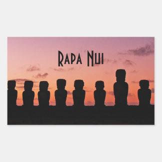 Easter Island Rapa Nui  Chile South America Rectangular Sticker
