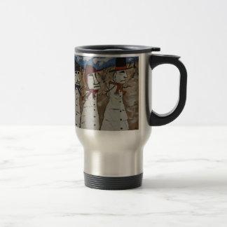 Easter Island Snow Men Coffee Mug