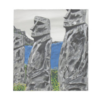 Easter Island Stone Men Notepad