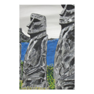 Easter Island Stone Men Stationery