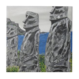 Easter Island Stone Men Tile