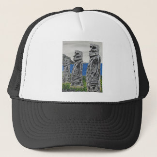 Easter Island Stone Men Trucker Hat
