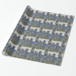 Easter Island Stone Men Wrapping Paper