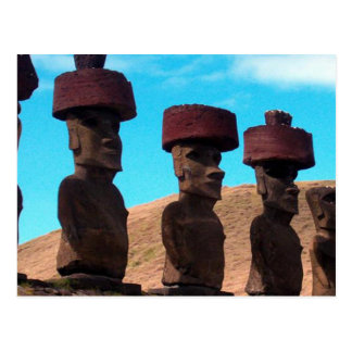 EASTER ISLAND TALKING HEADS POSTCARD