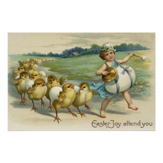 Easter Joy Attend YouChicks in a Parade Poster