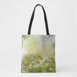 Easter Landscape All-Over-Print Tote Bag