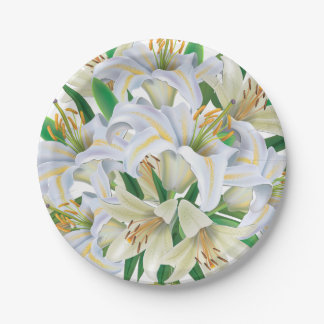 Easter Lilies Paper Plate