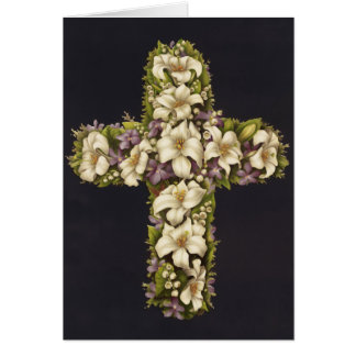 Easter Lily Cross Card