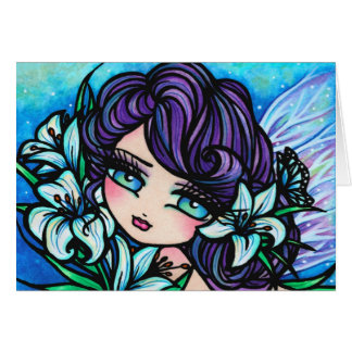 Easter Lily Fairy Fantasy Art Card by Hannah Lynn