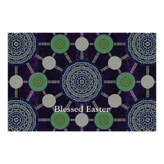 Easter Lily Mandala Array Posters