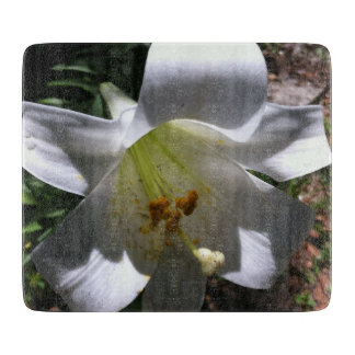 Easter Lily Shadow Cutting Boards