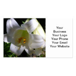 Easter Lily White Business Card Template