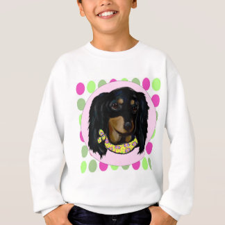 Easter Long Haired Black Dachshund Sweatshirt