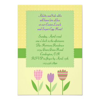 Easter Lunch and Egg Hunt Invitation