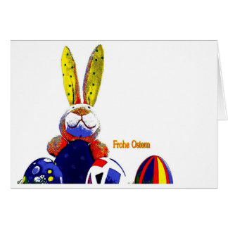 Easter map Easter bunny PopArt Card