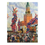 Easter Market at the Moscow Kremlin, 1917 Postcard