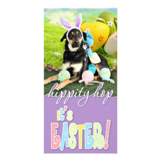 Easter - Mixed Breed - Jake Photo Greeting Card