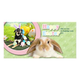 Easter - Mixed Breed - Jake Custom Photo Card