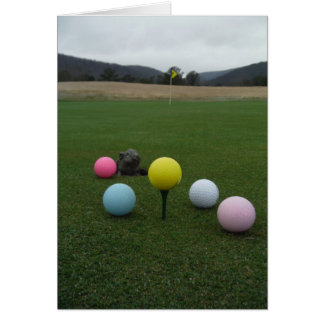 Easter mountain golf course card