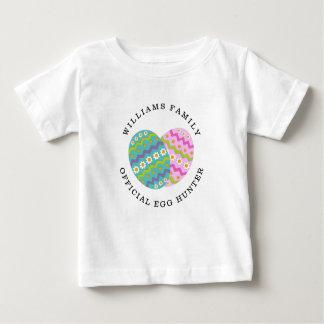 Easter Official Egg Hunter Add Family Name Baby T-Shirt