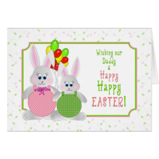 Easter -  Our Daddy - Bunnies & Balloons Card