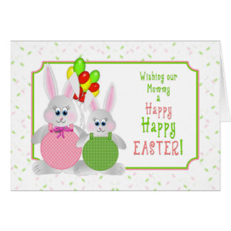 Easter -  Our Mummy - Bunnies & Balloons Card