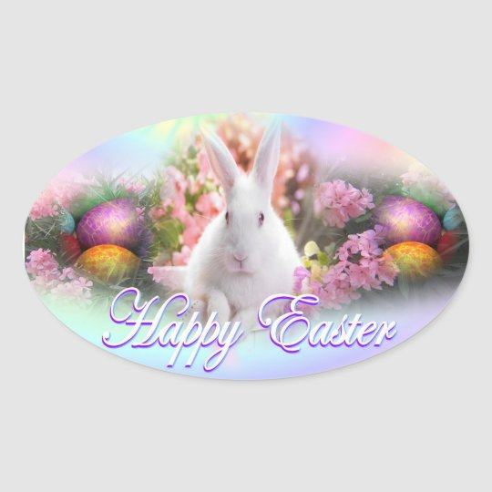 Easter Oval Sticker