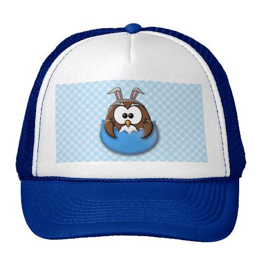 Easter owl - blue trucker hat