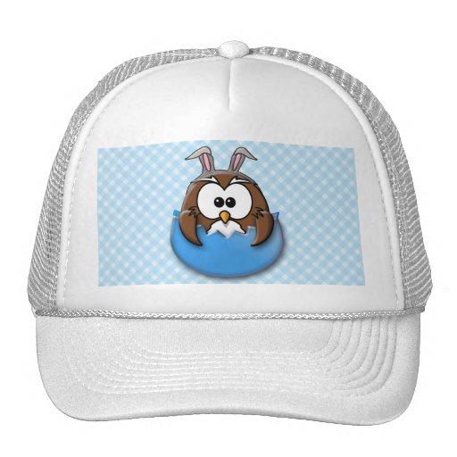Easter owl - blue trucker hats