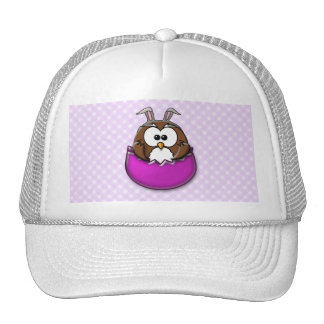 Easter owl - pink mesh hats