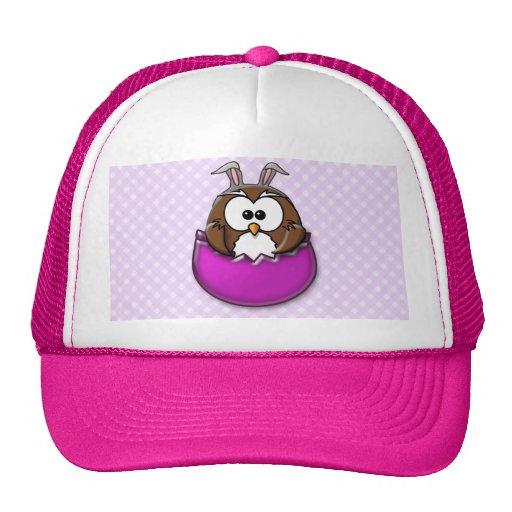Easter owl - pink trucker hat