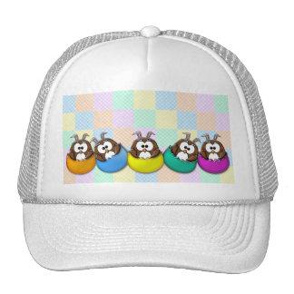 Easter owl - rainbow cap