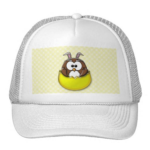 Easter owl - yellow trucker hats