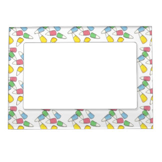 Easter Pastel Candy Corn Print Picture Frame