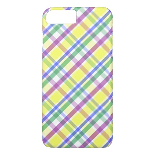 Easter Pastel Plaid Pattern iPhone 7 Plus Case