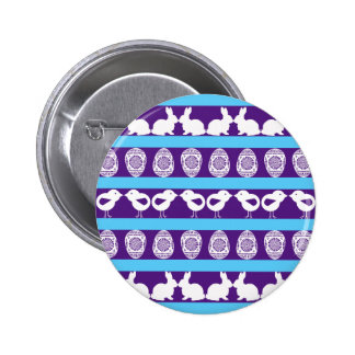 Easter pattern. Any background color 6 Cm Round Badge