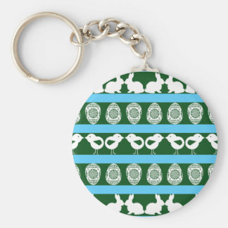 Easter pattern. Any background color Basic Round Button Key Ring