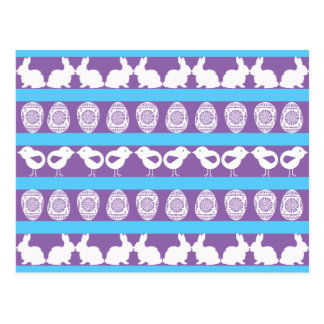 Easter pattern. Any background color Postcard